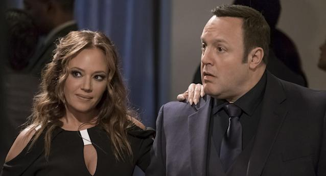 Leah Remini and Kevin James (Photo: Jeff Neumann/CBS via Getty Images)