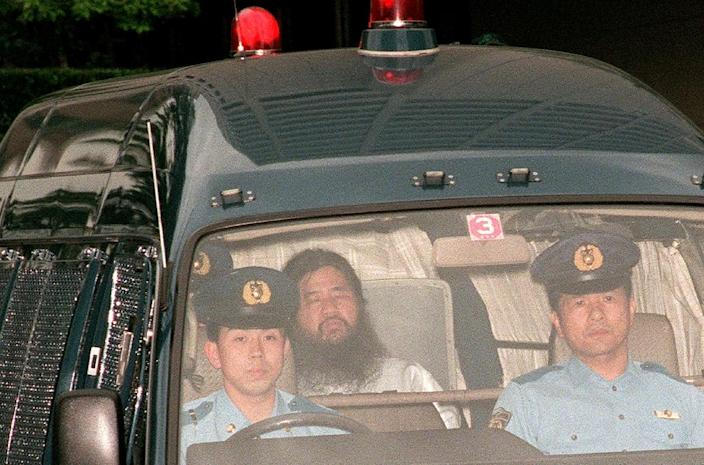 Shoko Asahara, head of the doomsday cult Aum Shinrikyo that carried out a sarin attack on the Tokyo subway, was executed on Friday (AFP Photo/JIJI PRESS)