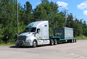 The final shipment of HEU TRM leaves the Chalk River Laboratories site.