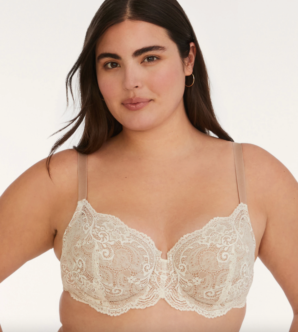 ThirdLove 24/7 Lace Balconette Bra in Sea Salt (Photo via ThirdLove)