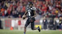<p>Trending down: Lamar Jackson, Louisville — Like Mayfield, Jackson will be great again in 2017. But he lost a lot of his supporting cast too. Leading running back Brandon Ratcliff is gone as well as Jackson's top three receivers from 2016. WR Jaylen Smith, who averaged 23 yards a catch in 2016, needs to step up. (Photo credit: AP) </p>