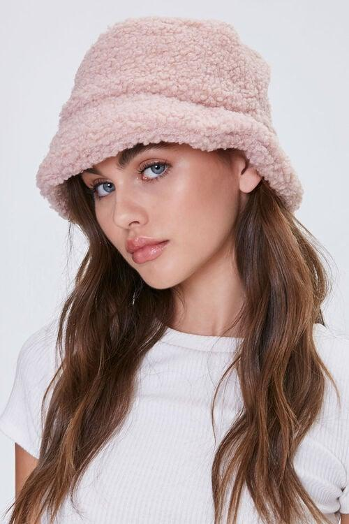 <p>I love the shade of this <span>Faux Shearling Bucket Hat</span> ($15).</p>