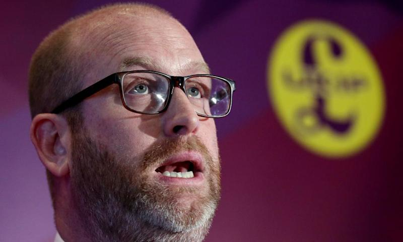Paul Nuttall at the launch of the party's election campaign in London.