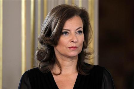 Valerie Trierweiler, companion of France's new President Hollande, attends the investiture ceremony at the Elysee Palace in Paris