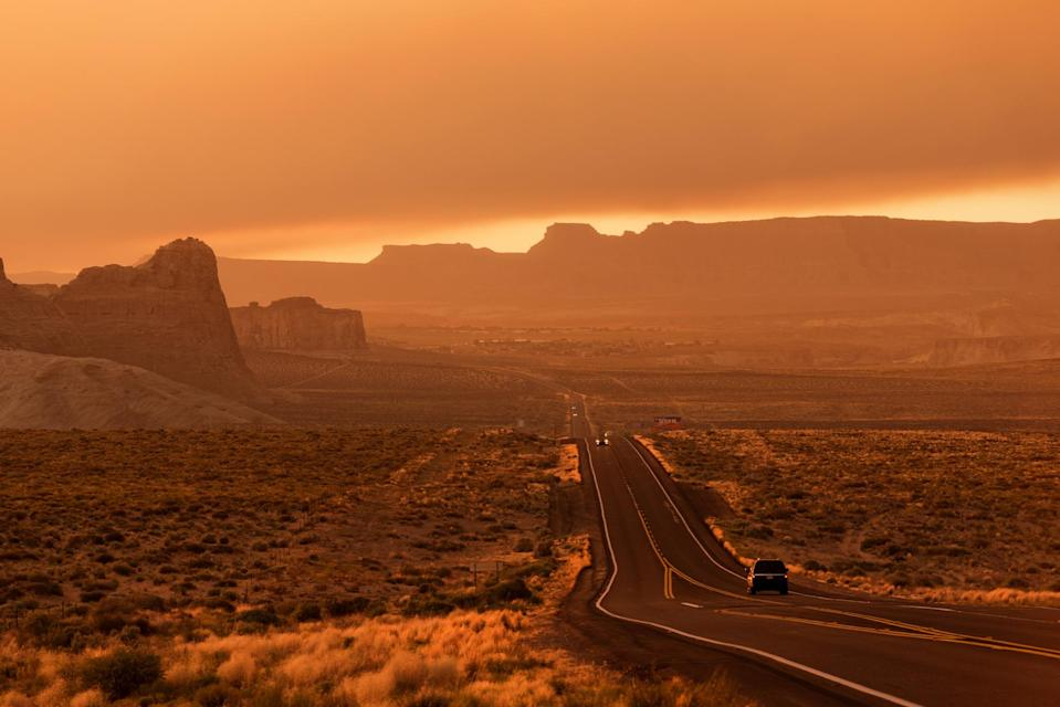 """<p>The entire length of U.S. Route 89 runs 2,000 miles. You can choose to do the Basin and Range road trip or the Colorado Plateau or the Rocky Mountains. Each section provides beautiful natural scenery to connect you to the Earth and take you away from everyday concerns. A popular portion of this road is the AZ 89A which takes you from <a href=""""https://usroute89.com/project/alternate-89-prescott-to-flagstaff/"""" rel=""""nofollow noopener"""" target=""""_blank"""" data-ylk=""""slk:Prescott to Flagstaff"""" class=""""link rapid-noclick-resp"""">Prescott to Flagstaff</a> in 91.7 miles.</p>"""