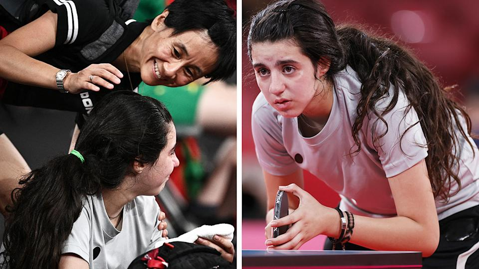 Syria's Hend Zaza, 12, took a selfie with 39-year-old table tennis opponent Liu Jia after their match at the Tokyo Olympics.