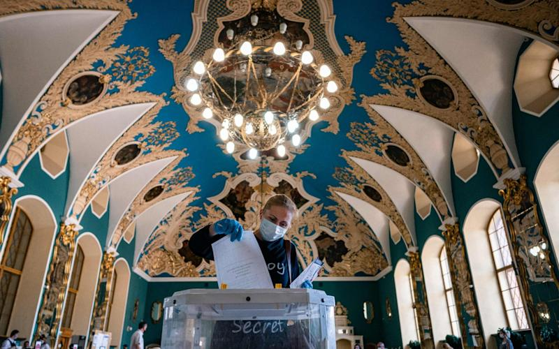 Voting has been held for a whole week to minimise the risk of the spread of coronavirus - Dimitar Dilkoff/AFP