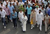 Mamata Banerjee, the Chief Minister of West Bengal, and her party supporters attend a protest march against the National Register of Citizens (NRC) and a new citizenship law, in Kolkata, India, December 17, 2019. REUTERS/Rupak De Chowdhuri