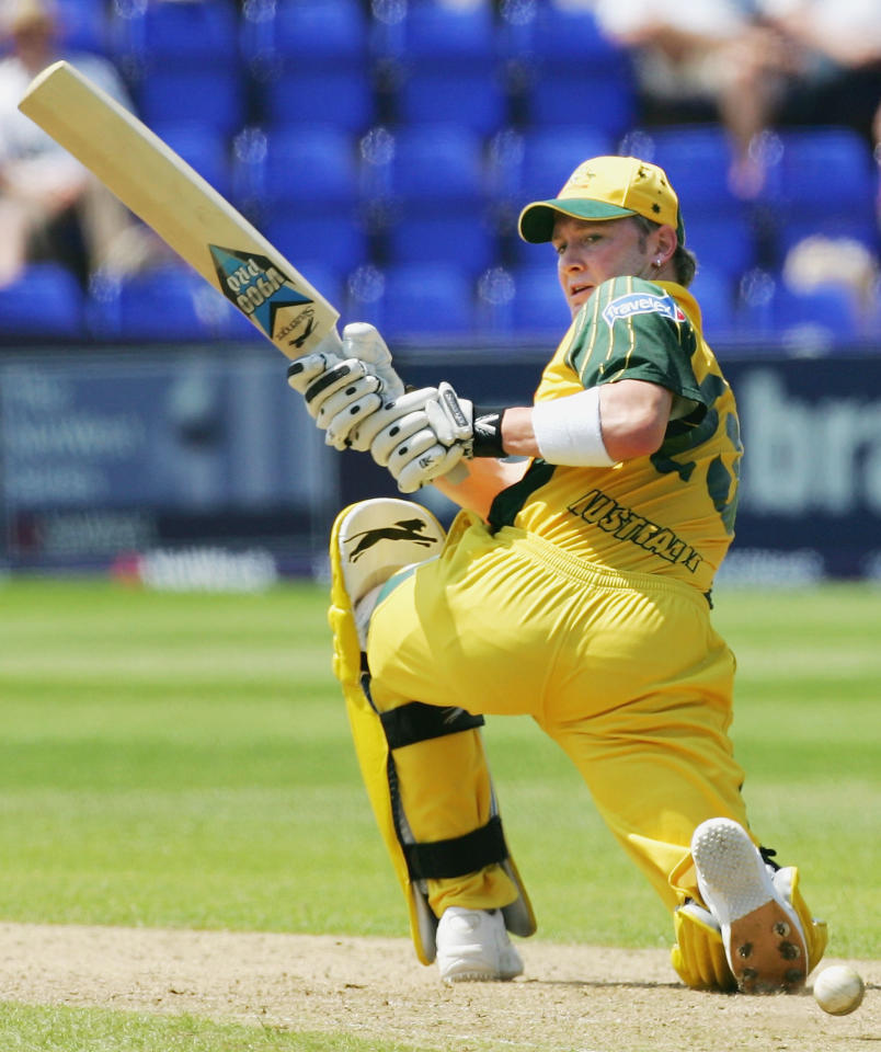 Michael Clarke of Australia in action during the NatWest Series One Day International between Australia and Bangladesh played at Sophia Gardens on June 18, 2005 in Cardiff, United Kingdom  (Photo by Hamish Blair/Getty Images)