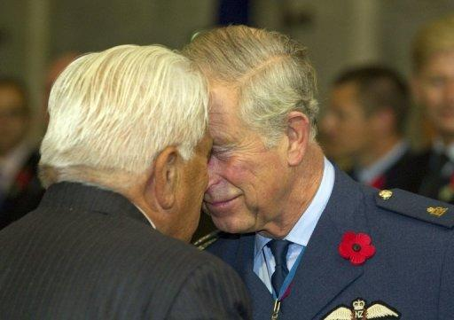 Prince Charles receives a traditional Maori greeting from Ngati Whatua's Grant Hawke during Armistice Day commemorations at the Auckland War Memorial on November 11. Members of the local Ngati Whatua iwi, or tribe, performed a Maori welcoming ceremony for the royal couple