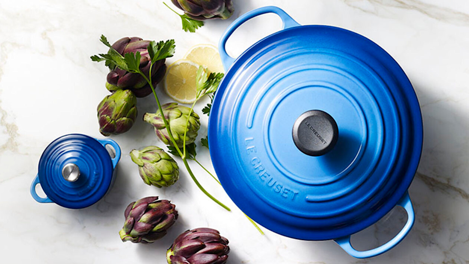 Prepare soups and stews in this classic Dutch oven.