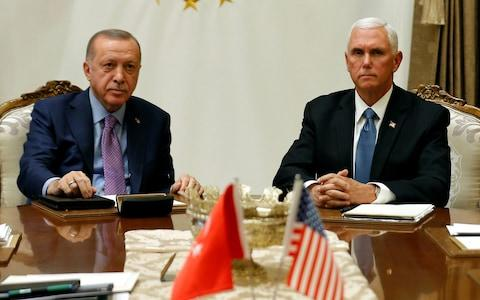 Mike Pence announced the deal after meeting Recep Tayyip Erdogan - Credit: REUTERS/Huseyin Aldemir