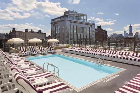 The Soho House rooftop pool (Soho House)
