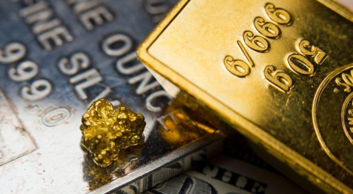 gold brick with gold nugget