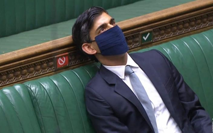 Rishi Sunak had been expected to answer an urgent question in the Commons today - but instead it will be taken by Paul Scully - AFP