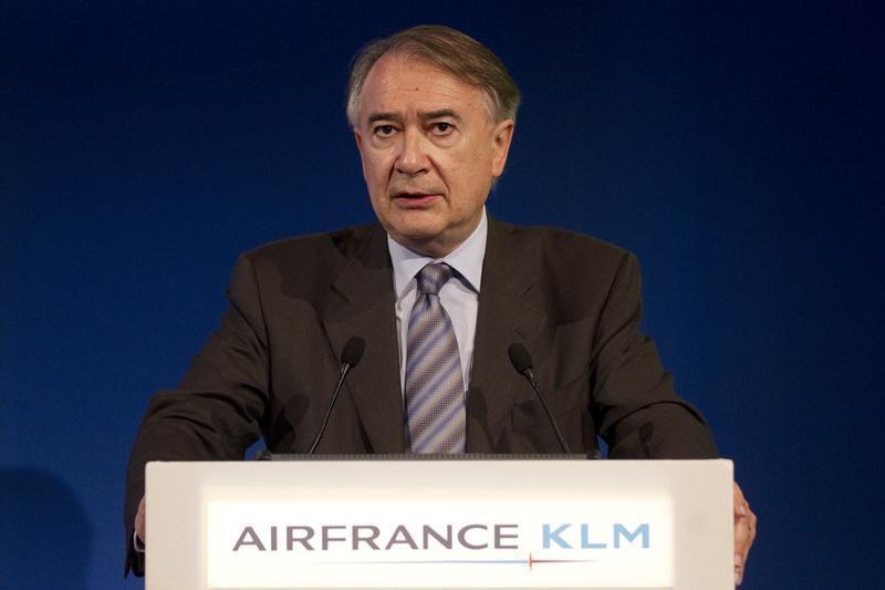 Philippe Calavia, Chief Financial Officer Air France-KLM, speaks during the presentation of the company's 2010-2011 full year results in Paris