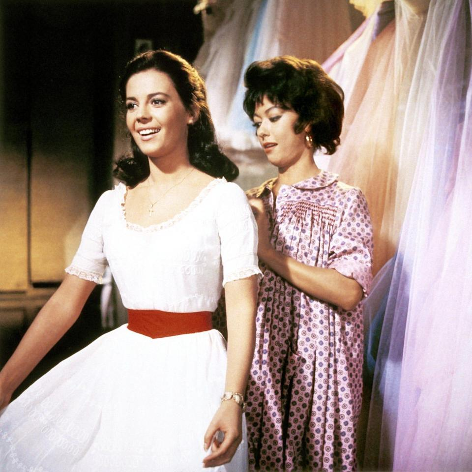 "Natalie Wood starred as Maria and Rita Moreno played Anita in the 1961 movie musical ""West Side Story."""
