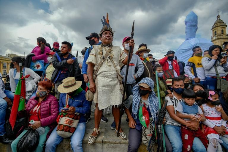 Representing 4.4 percent of Colombia's 50 million population, indigenous groups have for decades fought for their territorial rights, using methods such as roadblocks to gain attention