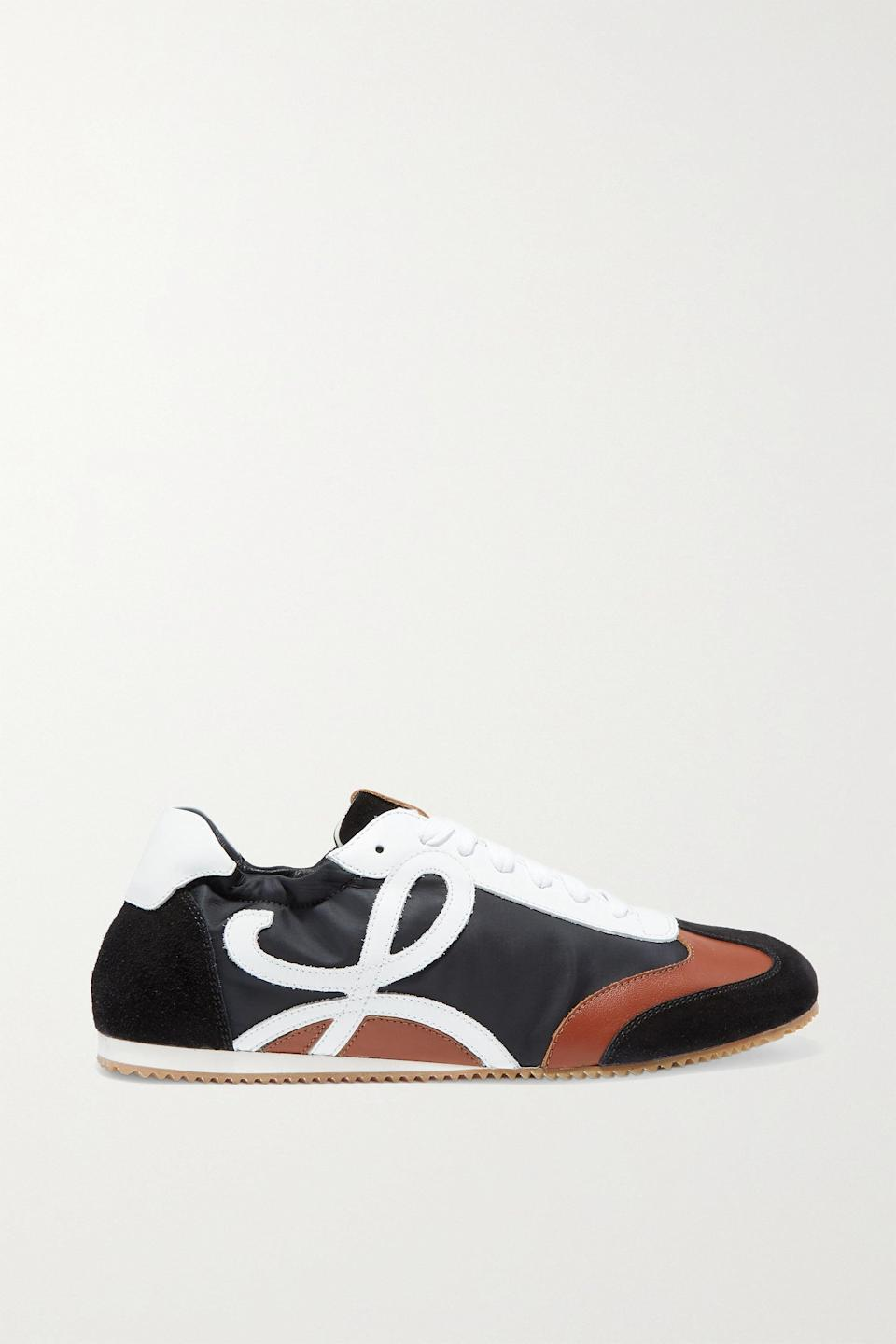 <p><span>Loewe Leather, Suede, and Shell Sneakers</span> ($590)</p>