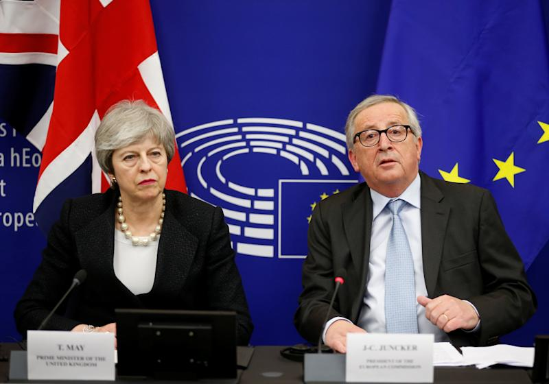 Theresa May and Jean-Claude Juncker (Getty)