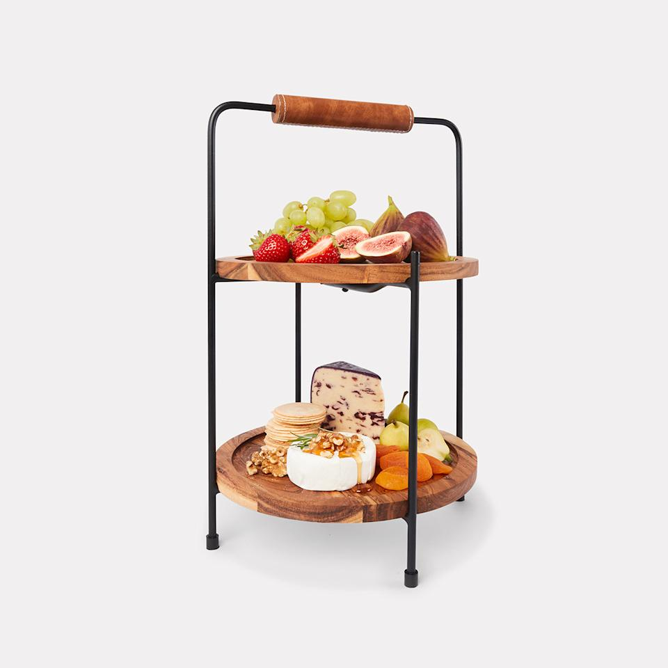 2 Tier Stand with Round Serving Boards. Photo: Kmart.