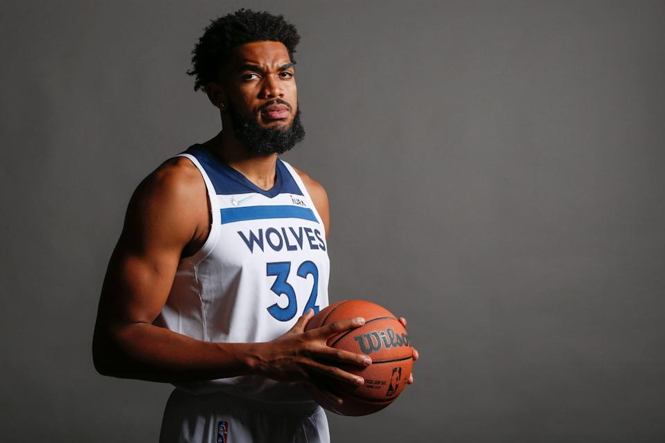 Timberwolves center Karl-Anthony Towns has lost seven family members, including his mother, to COVID. His story convinced two teammates to get the vaccine.