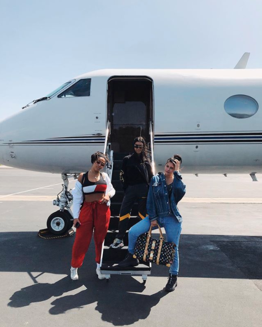 Kylie flew off to the desert festival with her best friend Jordyn and her sister, Kourtney. Photo: Instagram/Kylie Jenner