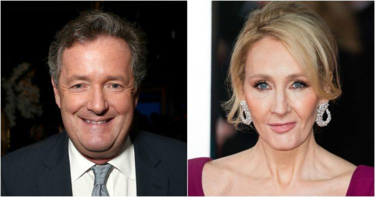 Piers Morgan and JK Rowling entered into a war of words with one another (Copyright: Getty/Todd Williamson/Jeff Spicer)