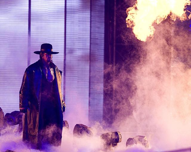 The Undertaker was the favorite wrestler of Hansel Robles as a kid. (WireImage)