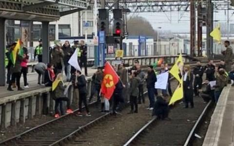Protesters trespassed onto the tracks at Manchester Piccadilly. - Credit: Chris Woodhouse