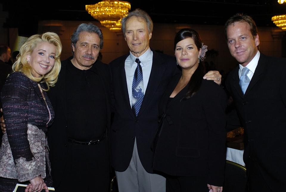 Melody Thomas Scott, Edward James Olmos, Clint Eastwood, Marcia Gay Harden and Kiefer Sutherland (Photo by Malcolm Ali/WireImage)