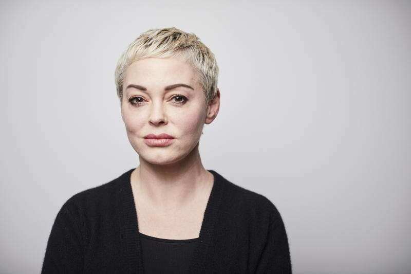 In this Friday, January 3, 2020 photo, Rose McGowan poses for a portrait in New York. (Photo by Matt Licari/Invision/AP)