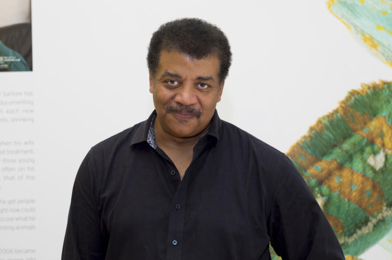 Neil deGrasse Tyson attends Hot in The Hamptons, hosted by Kristen Taekman and Flaviana Matata, at Thomas Halsey Homestead on Saturday, July 27, 2019, in Southampton, NY. (Photo by Scott Roth/Invision/AP)
