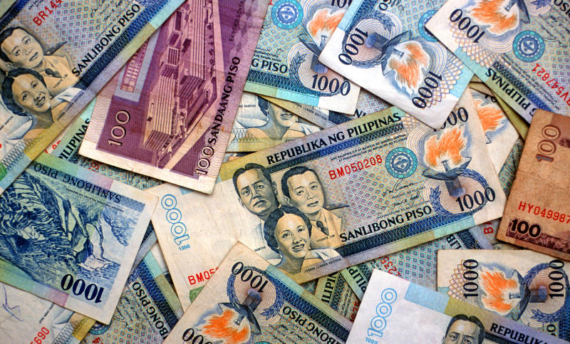 Philippine Peso currency notes. (Photo by: Universal Education/Universal Images Group via Getty Images)