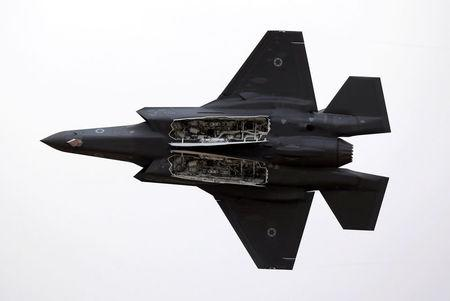 FILE PHOTO: An Israeli Air Force F-35 fighter jet flies during an aerial demonstration at a graduation ceremony for Israeli Air Force pilots at the Hatzerim air base in southern Israel