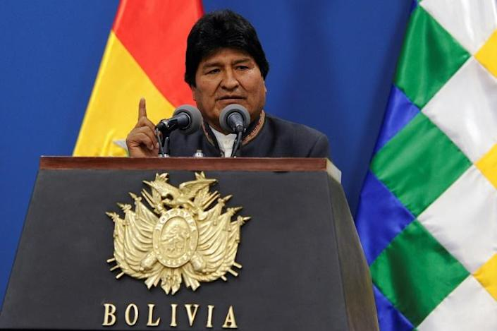 Bolivia's President Evo Morales says Bolivians should wait for the OAS audit report, which should be ready in two weeks (AFP Photo/JORGE BERNAL)