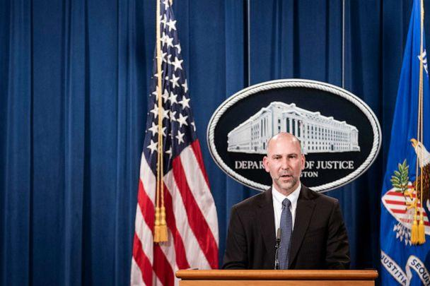 PHOTO: Steven D'Antuono, FBI Washington field office Assistant Director in Charge speaks at a press conference to give an update on the investigation into the Capitol Hill riots, Jan. 12, 2021, in Washington, DC. (Sarah Silbiger/AFP via Getty Images)