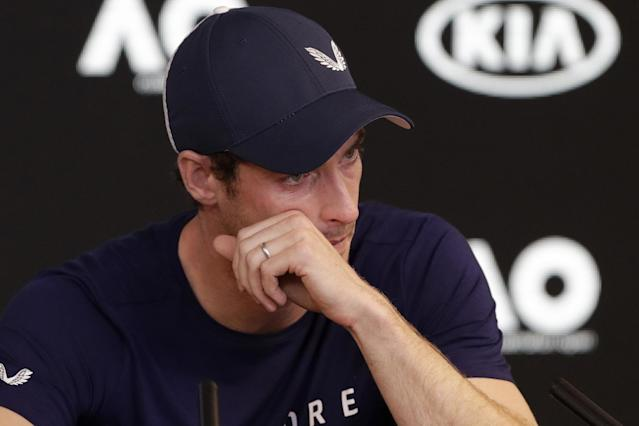 The tennis star broke down in tears as he announced his impending retirement (AP Photo/Mark Baker)