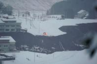 General view after a landslide hit a residential area in Ask village, Norway
