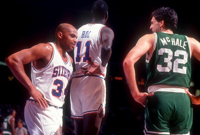 Charles Barkley battled with the greatest power forwards to ever play and called Kevin McHale the best. (Getty)