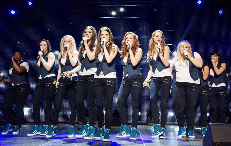 The Bellas in Pitch Perfect 2.