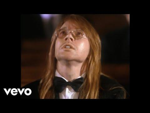 "<p>Guns N' Roses released its nine-minute-long music video for the song ""November Rain."" It was the most expensive music video ever produced at the time, with costs topping $1.5 million, which included $150,000 to build a chapel in the desert and $8,000 for model Stephanie Seymour's risqué miniskirt wedding dress. </p><p><a href=""https://www.youtube.com/watch?v=8SbUC-UaAxE"" rel=""nofollow noopener"" target=""_blank"" data-ylk=""slk:See the original post on Youtube"" class=""link rapid-noclick-resp"">See the original post on Youtube</a></p>"