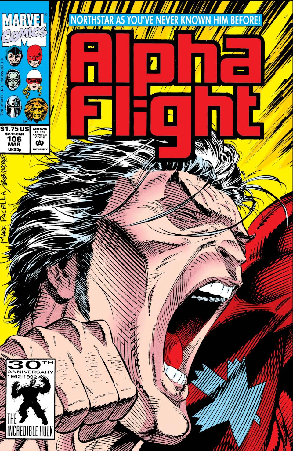 The Marvel hero Northstar came out of the closet in a pivotal 1992 'Alpha Flight' issue. (Photo: Marvel)