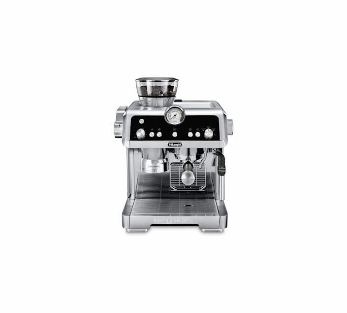 """<p><strong>De'Longhi</strong></p><p>amazon.com</p><p><strong>$699.99</strong></p><p><a href=""""https://www.amazon.com/dp/B07QMWZ6PT?tag=syn-yahoo-20&ascsubtag=%5Bartid%7C10060.g.37002009%5Bsrc%7Cyahoo-us"""" rel=""""nofollow noopener"""" target=""""_blank"""" data-ylk=""""slk:Shop Now"""" class=""""link rapid-noclick-resp"""">Shop Now</a></p><p>Any espresso enthusiast knows the key to the perfect cup is freshly ground beans, great temperature control, and foam frothing. The De'Longhi La Specialista machine provides the premium espresso experience thanks to its built-in grinder with a sensor to ensure you won't run out of beans, the mess-free smart tamping station, and the dual heating system for coffee extraction and steaming milk. The many components allows the La Specialista to brew specialty drinks like authentic Americanos and foam-rich cappuccinos without having to leave the house.</p>"""