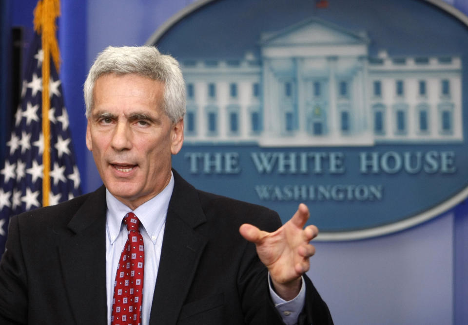 Jared Bernstein, chief economic advisor to U.S. Vice President Joe Biden, speaks to reporters during a press briefing at the White House in Washington October 19, 2009.  REUTERS/Kevin Lamarque  (UNITED STATES POLITICS BUSINESS)