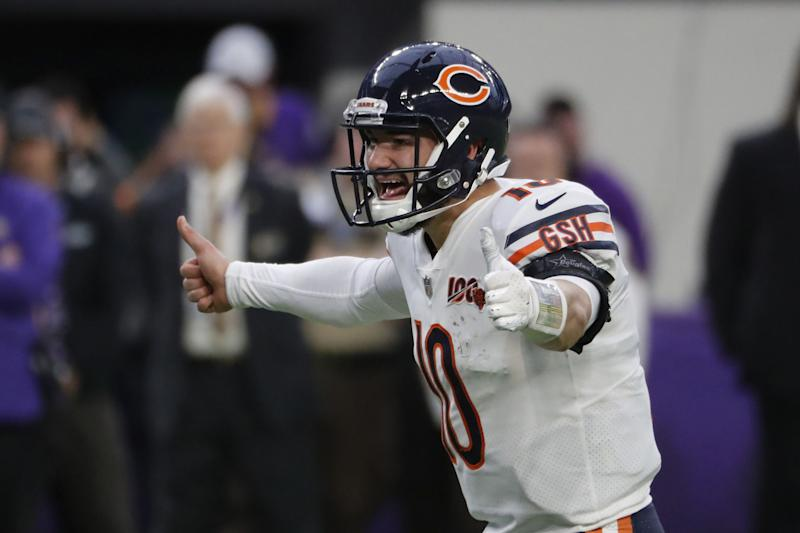 Chicago Bears quarterback Mitch Trubisky will compete with Nick Foles for the starting job. (Jose M. Osorio/Chicago Tribune/Tribune News Service via Getty Images)