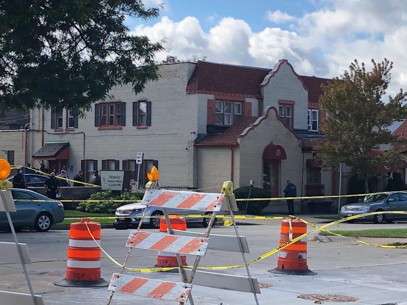 A car pulled up to a crowd of around 100 mourners gathering for a funeral at Serenity Funeral Home 4217 W. Fond Du Lac on Milwaukee's north side and opened fire Wednesday, wounding seven people.