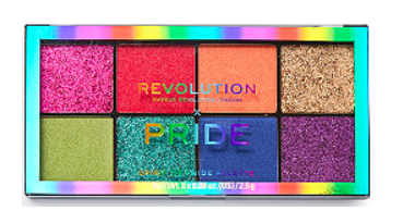 """<h3>Revolution Beauty</h3><p>U.K.-based mega brand Revolution Beauty, which is sold at Ulta, launched <a href=""""https://www.ulta.com/ulta/a/_/Ntt-Revolution%20x%20Pride%20/Nty-1?Dy=1&ciSelector=searchResults"""" rel=""""nofollow noopener"""" target=""""_blank"""" data-ylk=""""slk:three different palettes"""" class=""""link rapid-noclick-resp"""">three different palettes</a> for Pride — but rather than rely on sales, the brand is simply donating $32,000 to <a href=""""https://www.humandignitytrust.org/"""" rel=""""nofollow noopener"""" target=""""_blank"""" data-ylk=""""slk:The Human Dignity Trust"""" class=""""link rapid-noclick-resp"""">The Human Dignity Trust</a>, which uses litigation to defend LGBTQ+ people worldwide.</p><br><br><strong>Makeup Revolution</strong> Revolution x Pride Spirit of Pride Palette, $10, available at <a href=""""https://www.ulta.com/revolution-x-pride-spirit-of-pride-palette?productId=pimprod2007192"""" rel=""""nofollow noopener"""" target=""""_blank"""" data-ylk=""""slk:Ulta Beauty"""" class=""""link rapid-noclick-resp"""">Ulta Beauty</a>"""