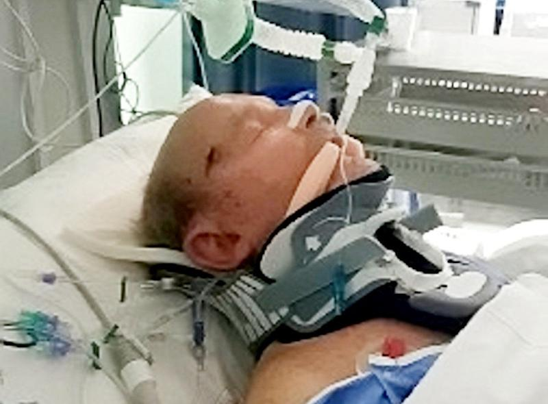 Trevor 'Gordon' Caldicott whilst in hospital. Police have launched a fresh plea for information after a pedestrian injured in a hit-and-run collision in Birmingham has died. See SWNS story SWMDhit. Trevor 'Gordon' Caldicott was struck by a blue VW Passat in Washwood Heath Road, Ward End just before 9.20pm on Saturday (20 April). The 81-year-old from Hodge Hill was taken to hospital with head injuries, but sadly passed away on Tuesday after his condition deteriorated.