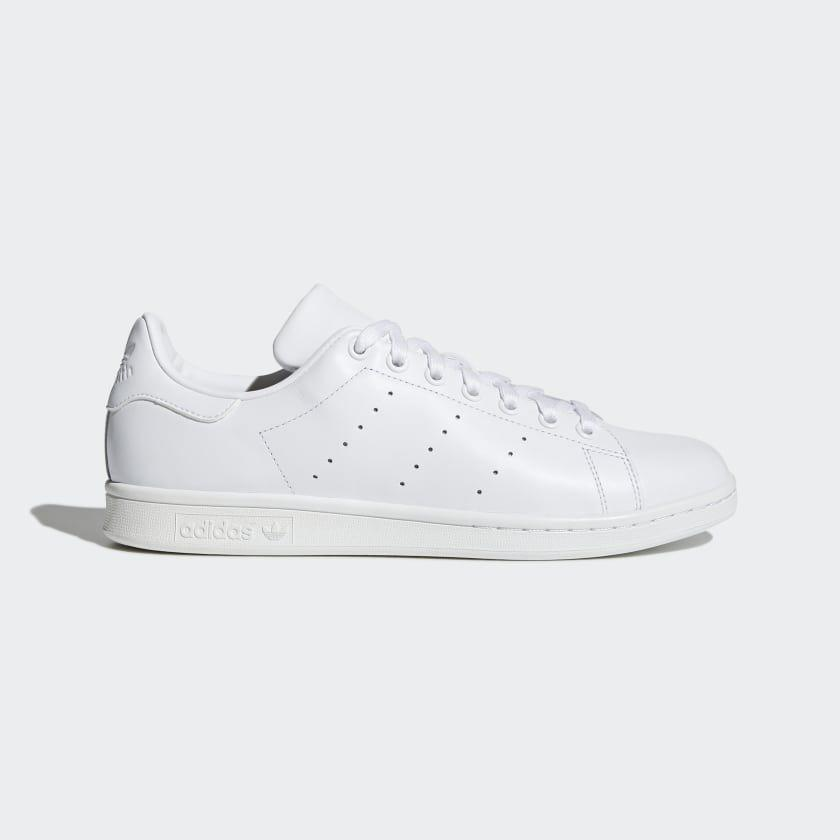 """<p><strong>adidas</strong></p><p>adidas.com</p><p><a href=""""https://go.redirectingat.com?id=74968X1596630&url=https%3A%2F%2Fwww.adidas.com%2Fus%2Fstan-smith-shoes%2FS75104.html&sref=https%3A%2F%2Fwww.menshealth.com%2Fstyle%2Fg32628591%2Fadidas-memorial-day-sneaker-sale%2F"""" rel=""""nofollow noopener"""" target=""""_blank"""" data-ylk=""""slk:BUY IT HERE"""" class=""""link rapid-noclick-resp"""">BUY IT HERE</a></p><p><del>$80<br></del><strong>$64</strong></p><p>OK, well if you're going to go for any white sneaker, you can really never go wrong with a Stan Smith. And in all white, these look good with trunks, jeans, and even suits, should you ever have to wear one again. </p>"""
